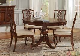 Granite Top Dining Room Table by Dining Room Dark Brown Leather Long Backrest Chairs Round Dining