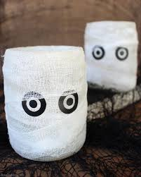 easy homemade halloween decoration mummy luminary bren did