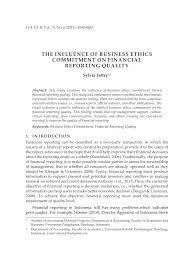 contoh laporan formal dan informal the influence of business ethics pdf download available