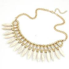 bib necklace crystal images Chunky crystal boho pendant chain statement bib necklace jewelry jpg