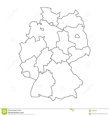 Simple Blank World Map by Map Of Germany Devided To 13 Federal States And 3 City States