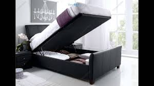 4ft Ottoman Storage Beds by Kaydian Allendale Leather Ottoman Storage Bed Black Youtube