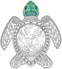 coloring turtle printable candyhippie craft