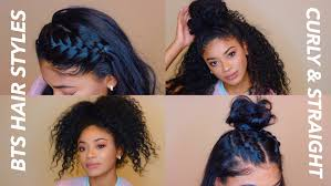 same haircut straight and curly back to school hairstyles curly straight jasmeannnn youtube