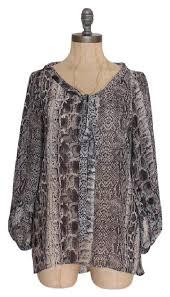 snake print blouse zara gray snake snakeskin print shirt blouse size 6 s tradesy