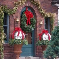 endearing image of outdoor prelit wreath fantastic