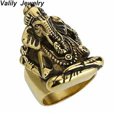 cool jewelry rings images Edglifu men ring thailand buddha elephant thai pikanet ganesha jpg