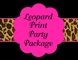 leopard print party supplies items similar to hot pink leopard birthday invitation party
