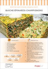 recette de cuisine pour regime diététique quiche épinards chignons