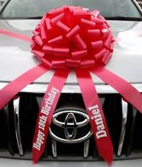 new car gift bow car bow with personalised tails large gift bow all colours