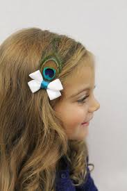 feather hair accessories white and teal hair bow with peacock feather peacock hair bow