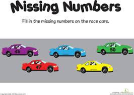 missing number worksheets education com