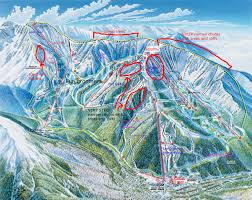 Colorado Ski Area Map by Trail Map Guides Skiing