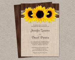 Rustic Wedding Invites Rustic Country Sunflower Wedding Reception Invitation Country