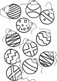 picture of coloring pages christmas ornaments printable all can