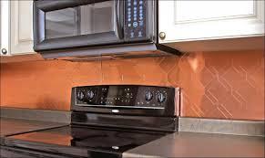 kitchen room awesome copper metal tile backsplash copper colored