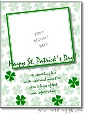 printable st patrick u0027s day photo frames st patrick u0027s day card