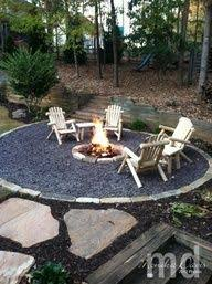 Ideas For Backyard Landscaping Build Round Firepit Area For Summer Nights Relaxing Summer