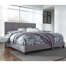 King Upholstered Bed Frame Signature Design By Ashley Dolante King Upholstered Bed With