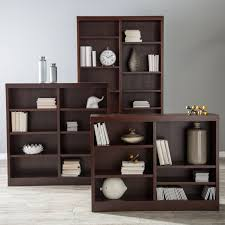 belham living jefferson double wide bookcase espresso
