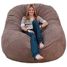 amazon com cozy sack 6 feet bean bag chair large earth kitchen