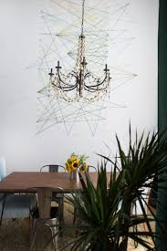 diy string art wall mural
