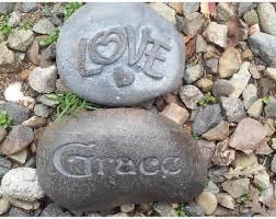 engraved river rock etsy