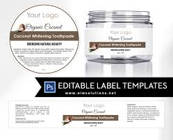 jar label template id11 stationery templates creative market