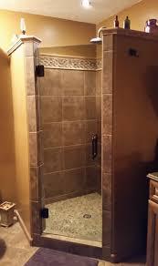 frameless single door shower enclosure skill glass company inc
