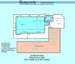 how big is 650 sq ft in ground pool design