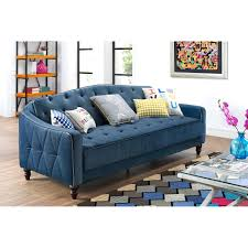Mainstays Sofa Bed Mainstays Morgan Faux Leather Tufted Convertible Futon Brown