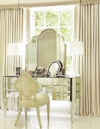 Bedroom Makeup Vanity With Lights Mirrored Makeup Vanity Lighting Doherty House Beautiful
