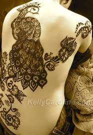 peacock henna tattoo kelly caroline