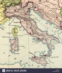Map Of Genoa Italy by Old Map Of Italy Stock Photos U0026 Old Map Of Italy Stock Images Alamy