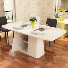 white storage dining table table telescopic dining table and chairs combination of white
