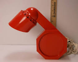 Red Desk Lamp by Pop Art Desk Lamp Etsy
