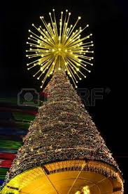 lighted tree with hundreds of tiny light bulbs in a