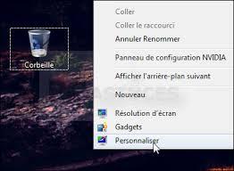 mettre corbeille sur bureau ajouter la corbeille au menu démarrer windows 7