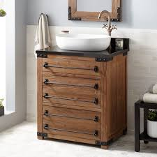 Pine Bathroom Storage 30 Bonner Reclaimed Wood Vessel Sink Vanity Pine Bathroom