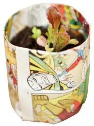 create newspaper pots for seed starting hgtv