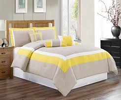 Yellow Grey And White Bedding Size Bedding Sets