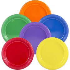 round plastic plates jam paper