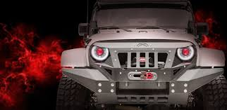 jeep angry headlights grumper full width fab fours
