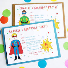 party invitation personalised birthday party invitations by superfumi