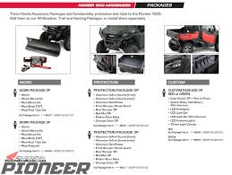 2016 honda pioneer 1000 u0026 1000 5 accessories price list honda