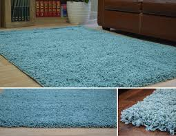 Duck Rugs Duck Egg Blue Dense Thick Luxury Shaggy Rug Small Medium Large 5