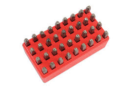 letter and number punch set part no 6117 part of the punches