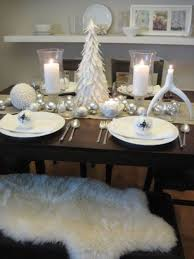 white and silver table runner 19 white winter tablescapes for christmas shelterness