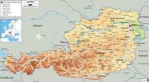 Europe Physical Map by Maps Of Austria Detailed Map Of Austria In English Tourist Map