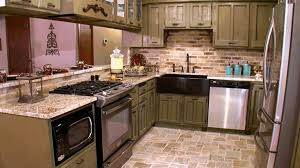 french country kitchen ideas black ceramic floor tile simple light